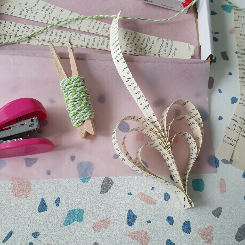 Valentines Bunting Kit - free UK postage