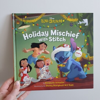 Lilo and Stitch Christmas Holiday Mischief Notebook - PLAIN PAPER ONLY. DO NOT ORDER A PAPER UPGRADE WITH THIS BOOK No original book pages