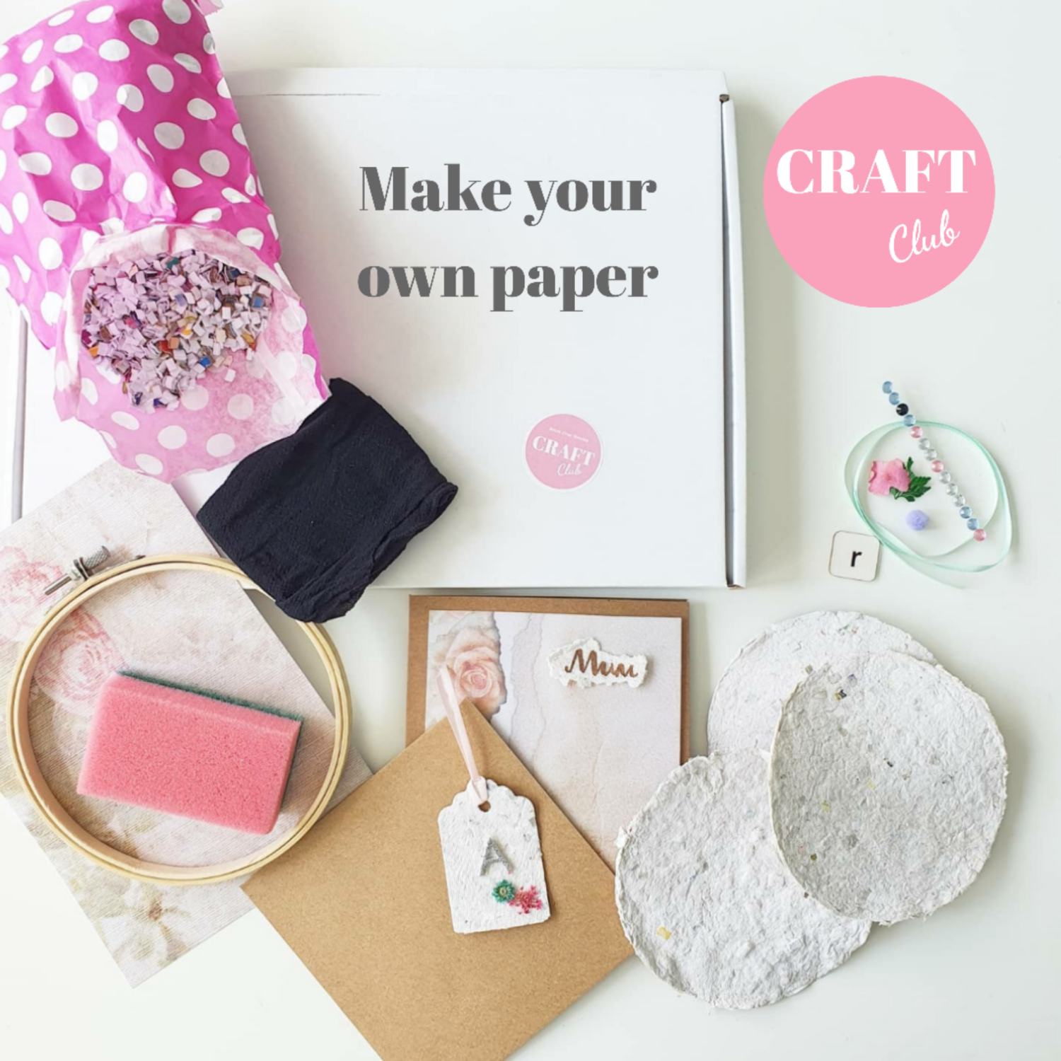 Make Your Own Paper! - AUGUST CRAFT CLUB - free UK postage