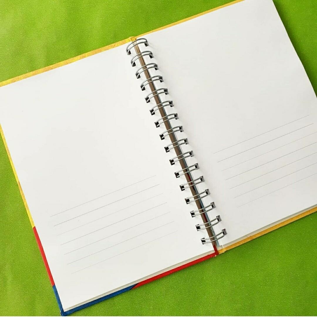 Half plain  / half lined paper / lines