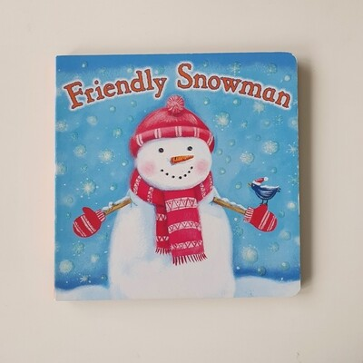 Friendly Snowman - glitter cover, Christmas