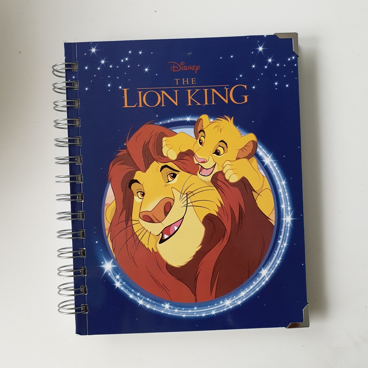 Lion King Plain Paper notebook with book corners - READY TO SHIP