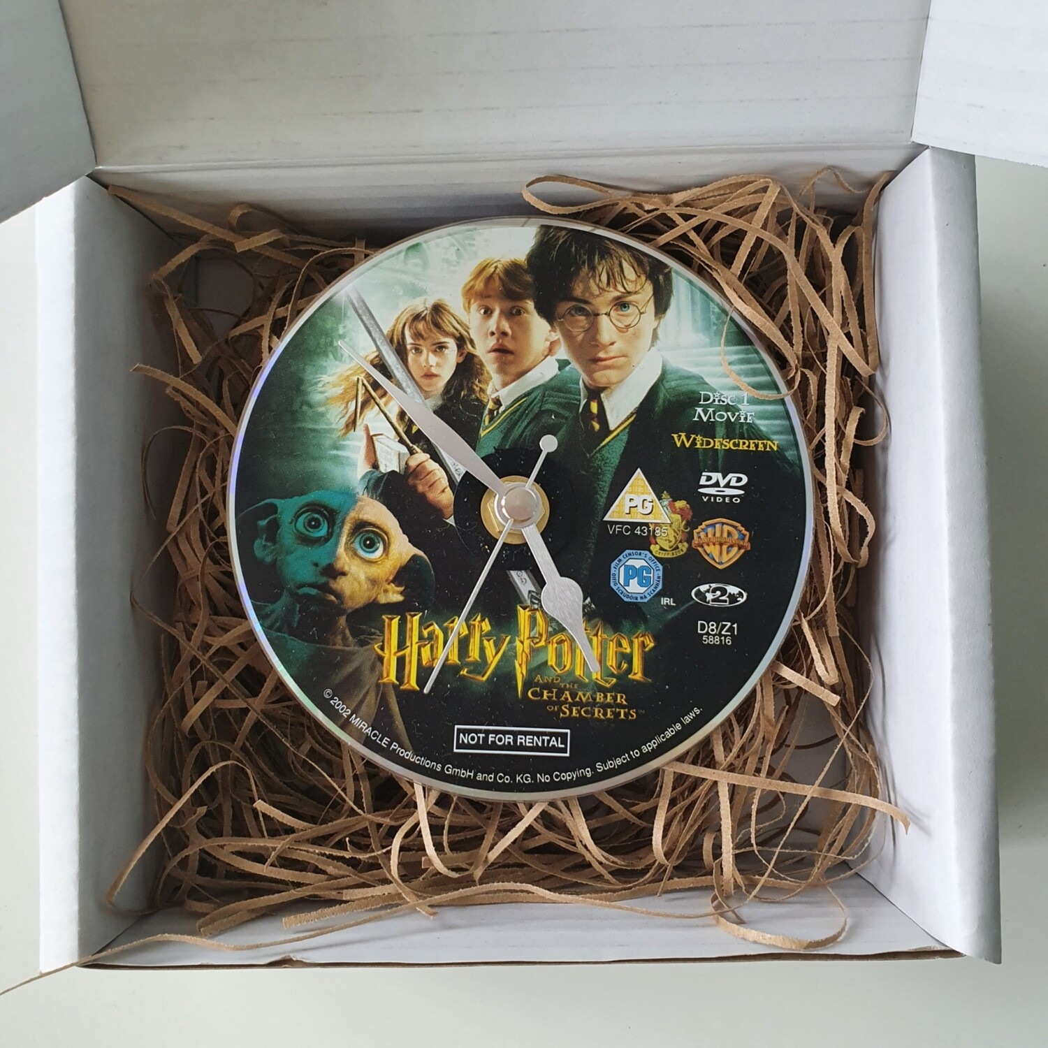 Harry Potter Clocks - made from recycled DVDs