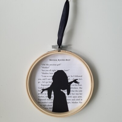 Mother Knows Best - Mother Gothel made from original book pages - READY TO SHIP