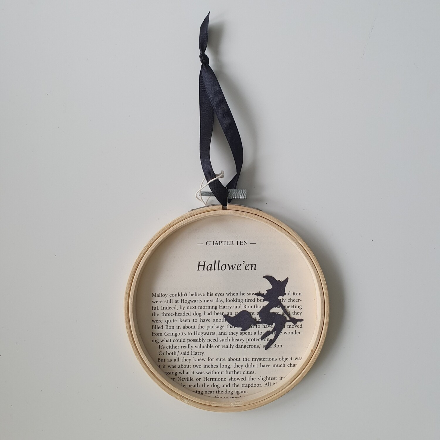 Harry Potter Halloween book art made from original book pages from The Philosopher's Stone - READY TO SHIP