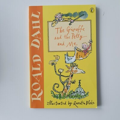 The Giraffe and the Pelly and Me by Roald Dahl Notebook - made from a paperback book