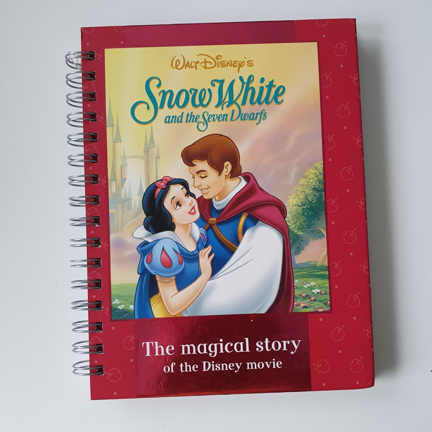 Snow White Lined Notebook - READY TO SHIP