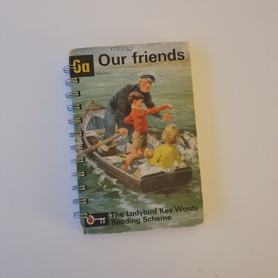 Our Friends Peter and Jane Plain Paper notebook - READY TO SHIP Ladybird Book