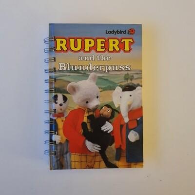 Rupert and the Blunderpuss Plain Paper notebook - READY TO SHIP Ladybird Book