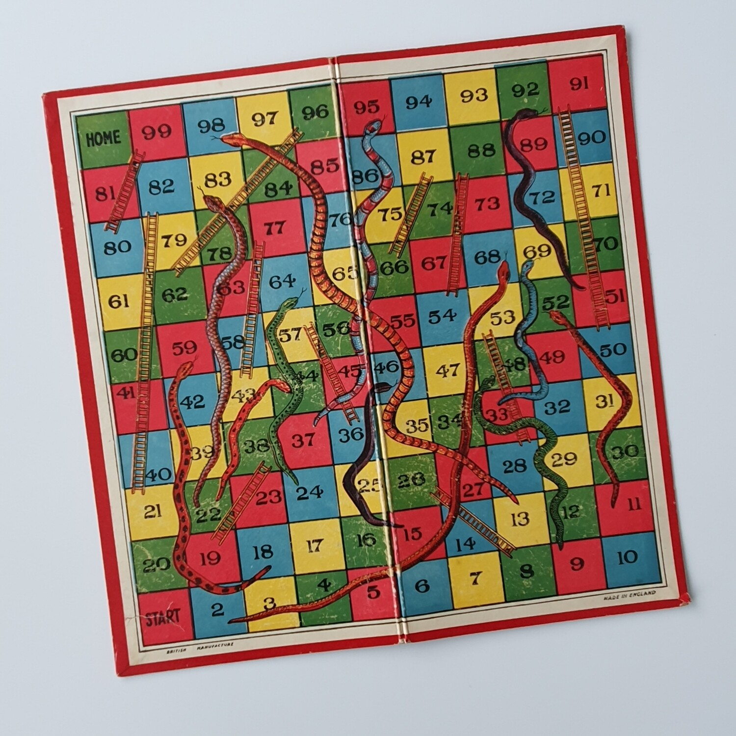 Vintage Snakes and Ladders Notebook
