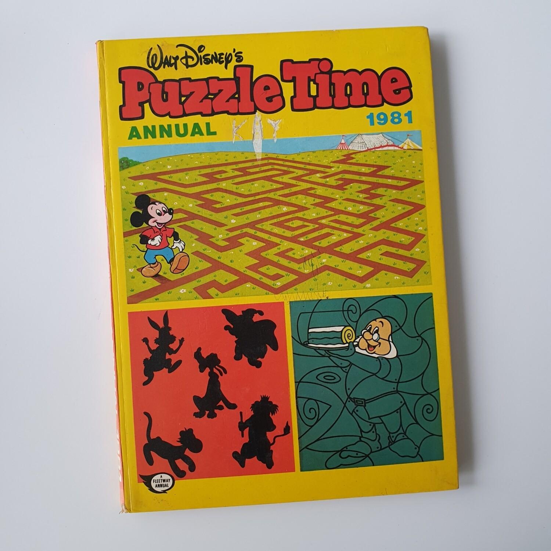 Walt Disney's Puzzle Time Notebook 1981
