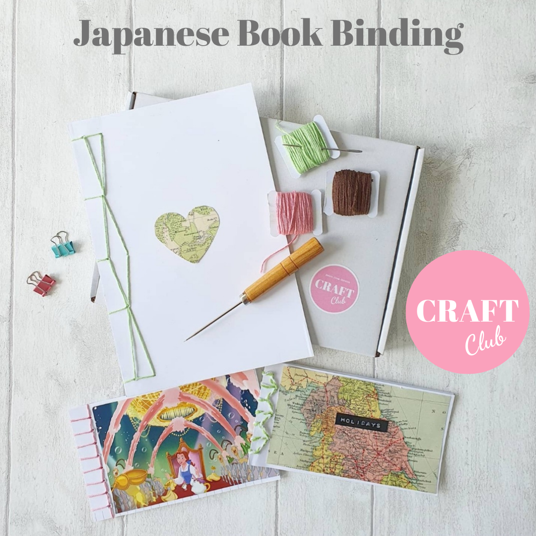 Japanese Book Binding - MAY CRAFT CLUB - free UK postage OVER 18s ONLY