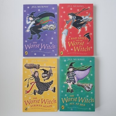 The Worst Witch Notebooks made from paperback books