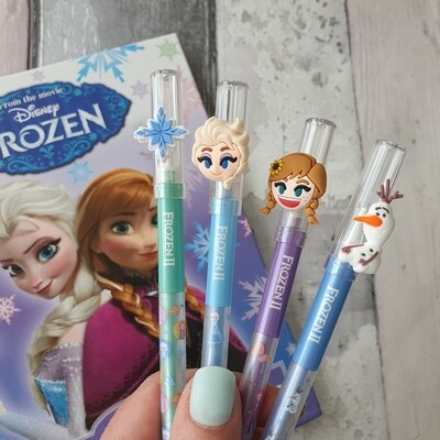 Frozen Pens - blue gel ink