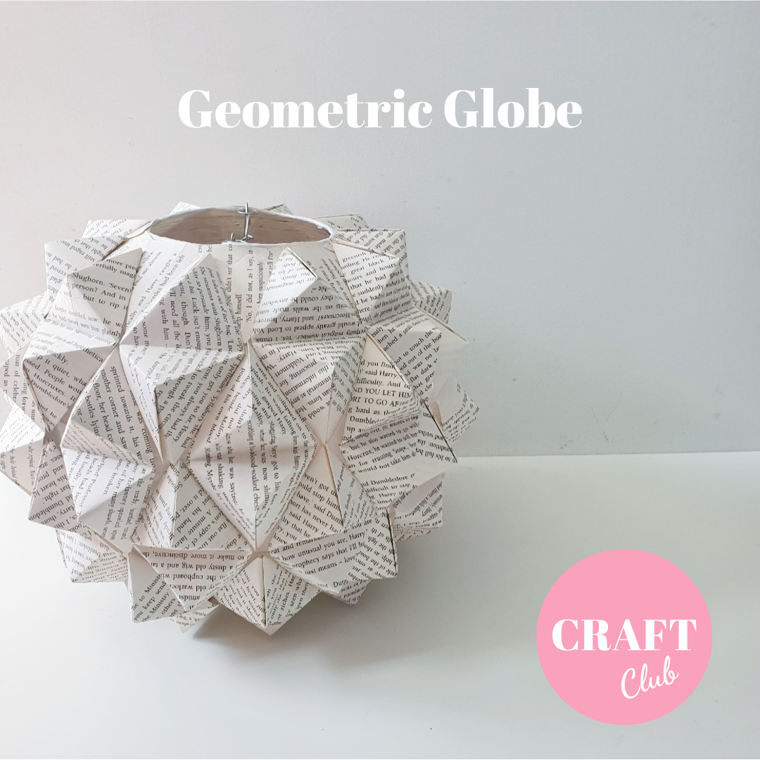 Geometric Globe - AUGUST CRAFT CLUB - free UK postage