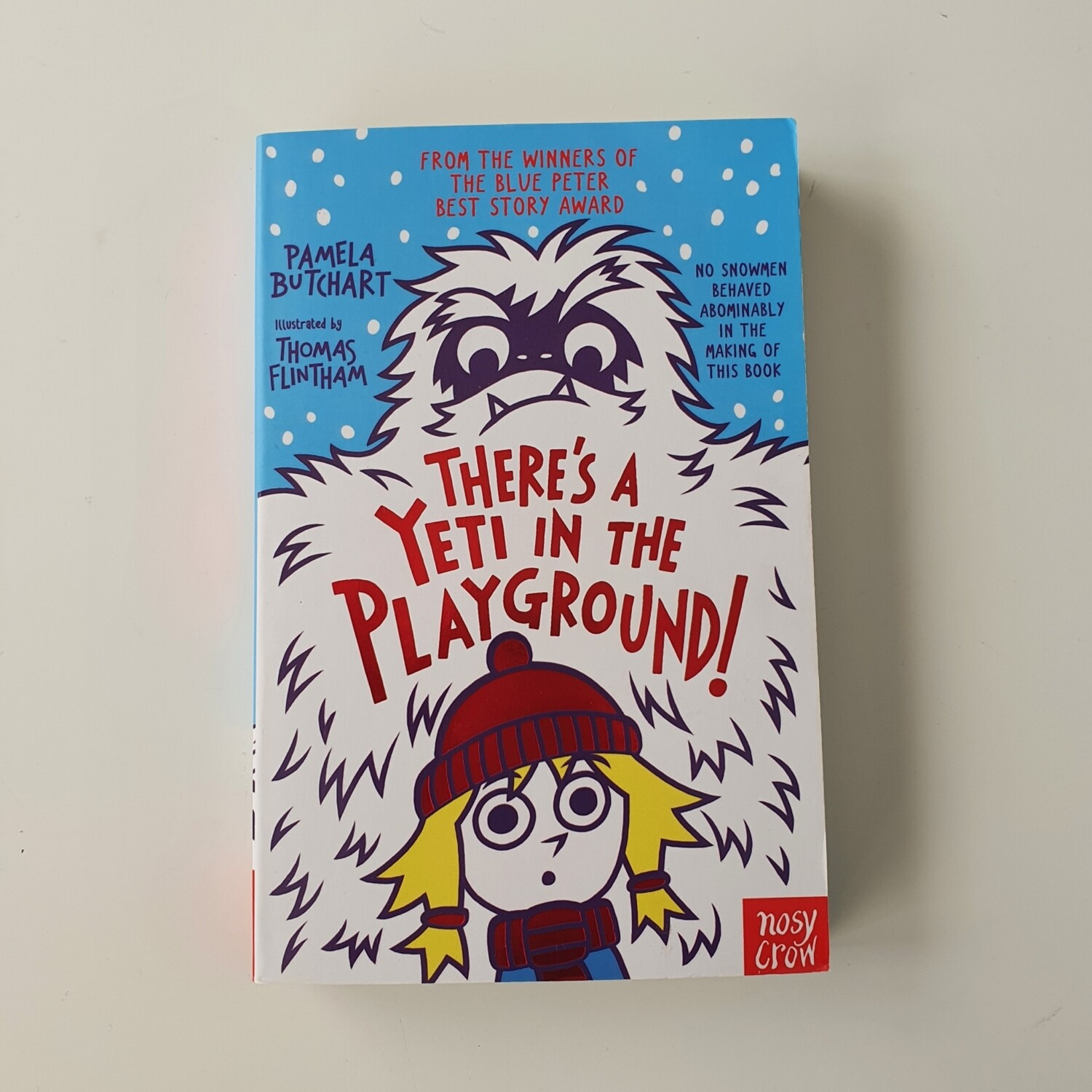 There's a Yeti in the Playground Notebook - made from a paperback book