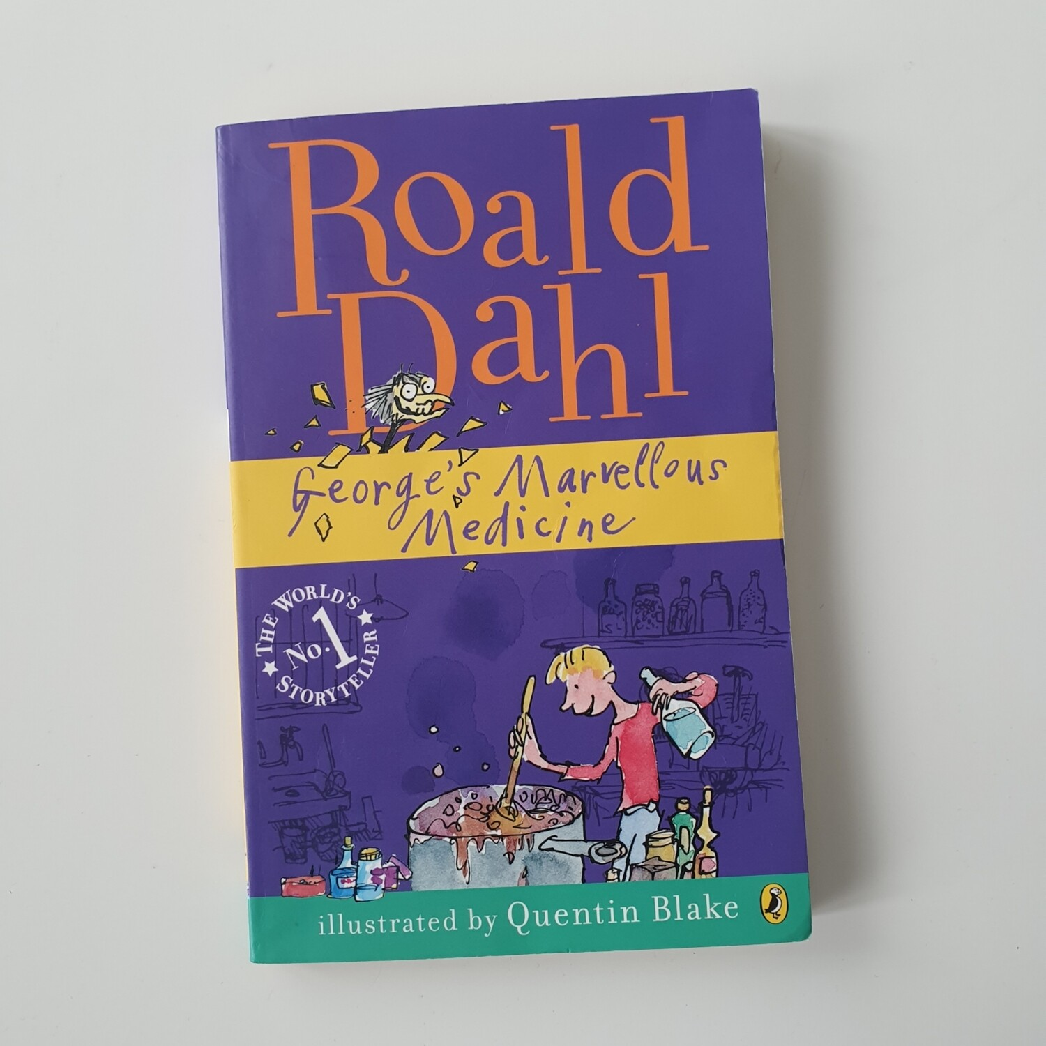 George's Marvellous Medicine by Roald Dahl Notebook - made from a paperback book