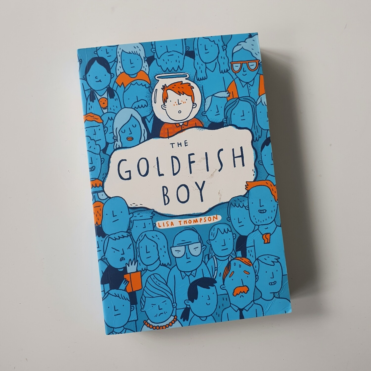 The Goldfish Boy Notebook - made from a paperback book