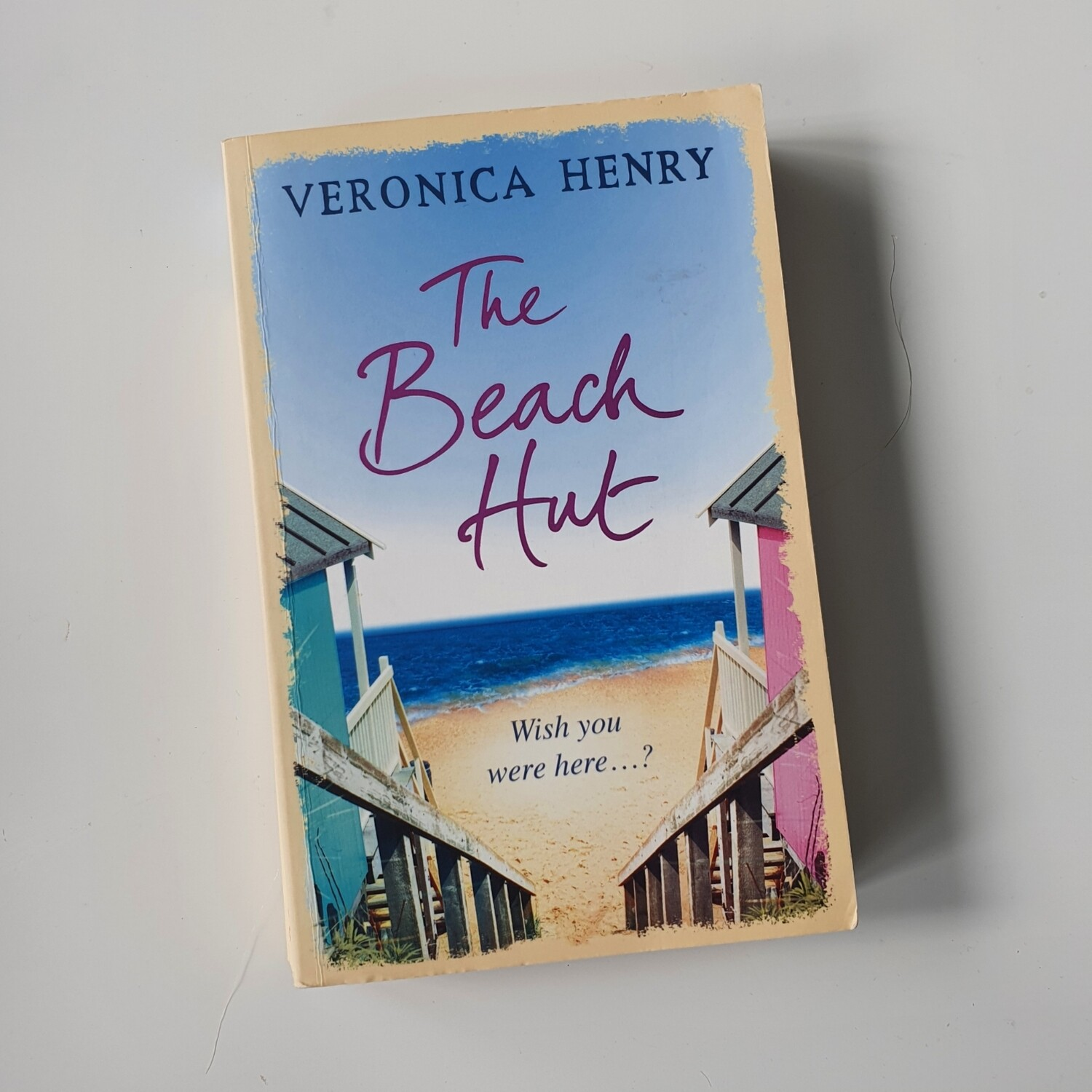 The Beach Hut by Veronica Henry Notebook - made from a paperback book