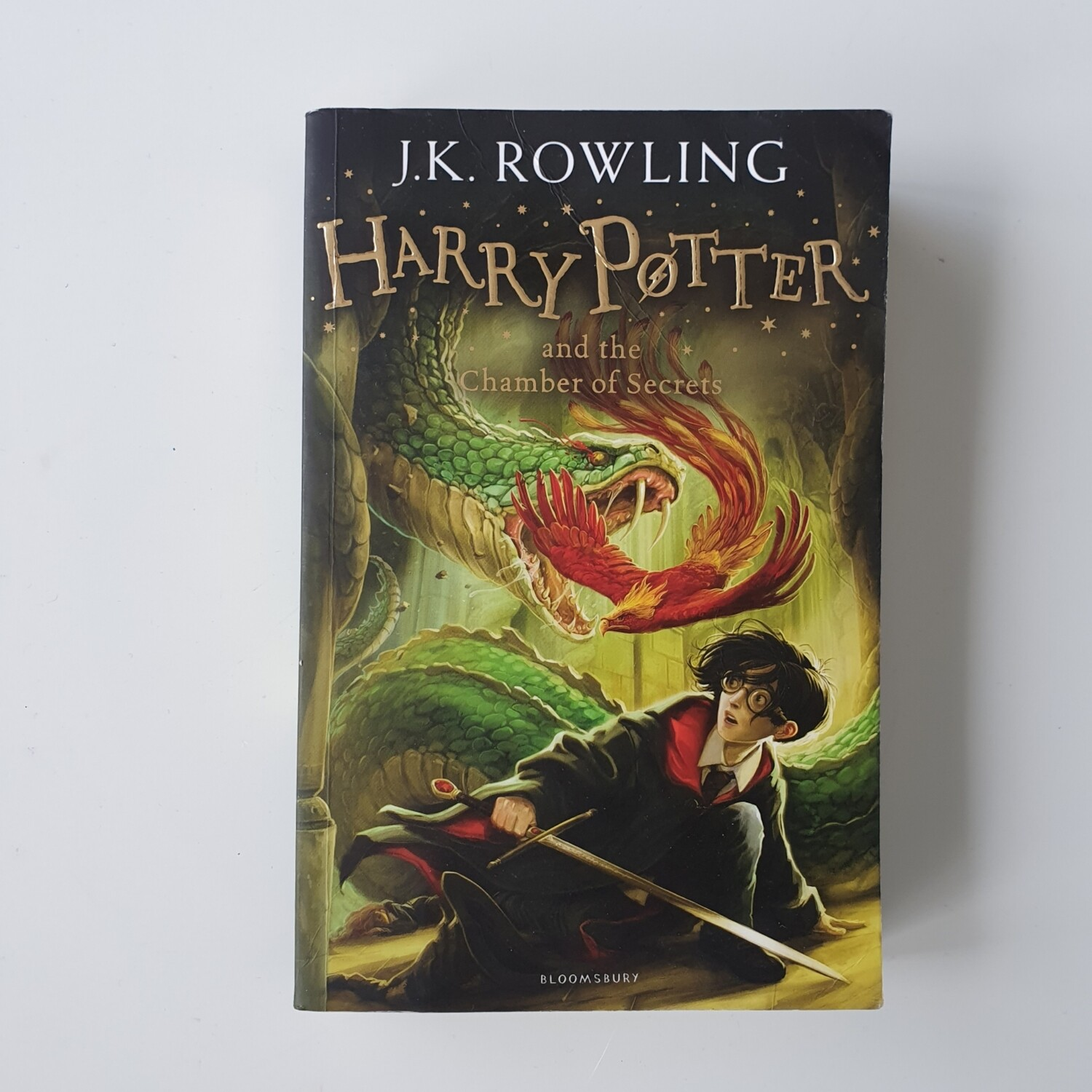 Harry Potter and the Chamber of Secrets Notebook - made from a paperback book