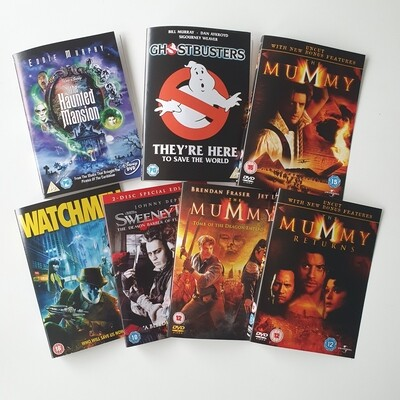 Halloween / Horror DVD notebooks -  made with metal book corners