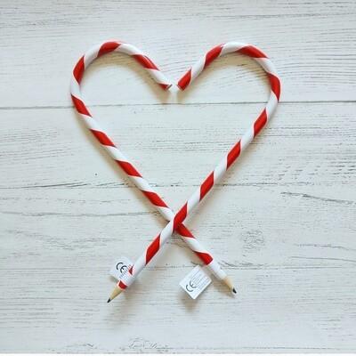 Candy Cane Christmas Pencil