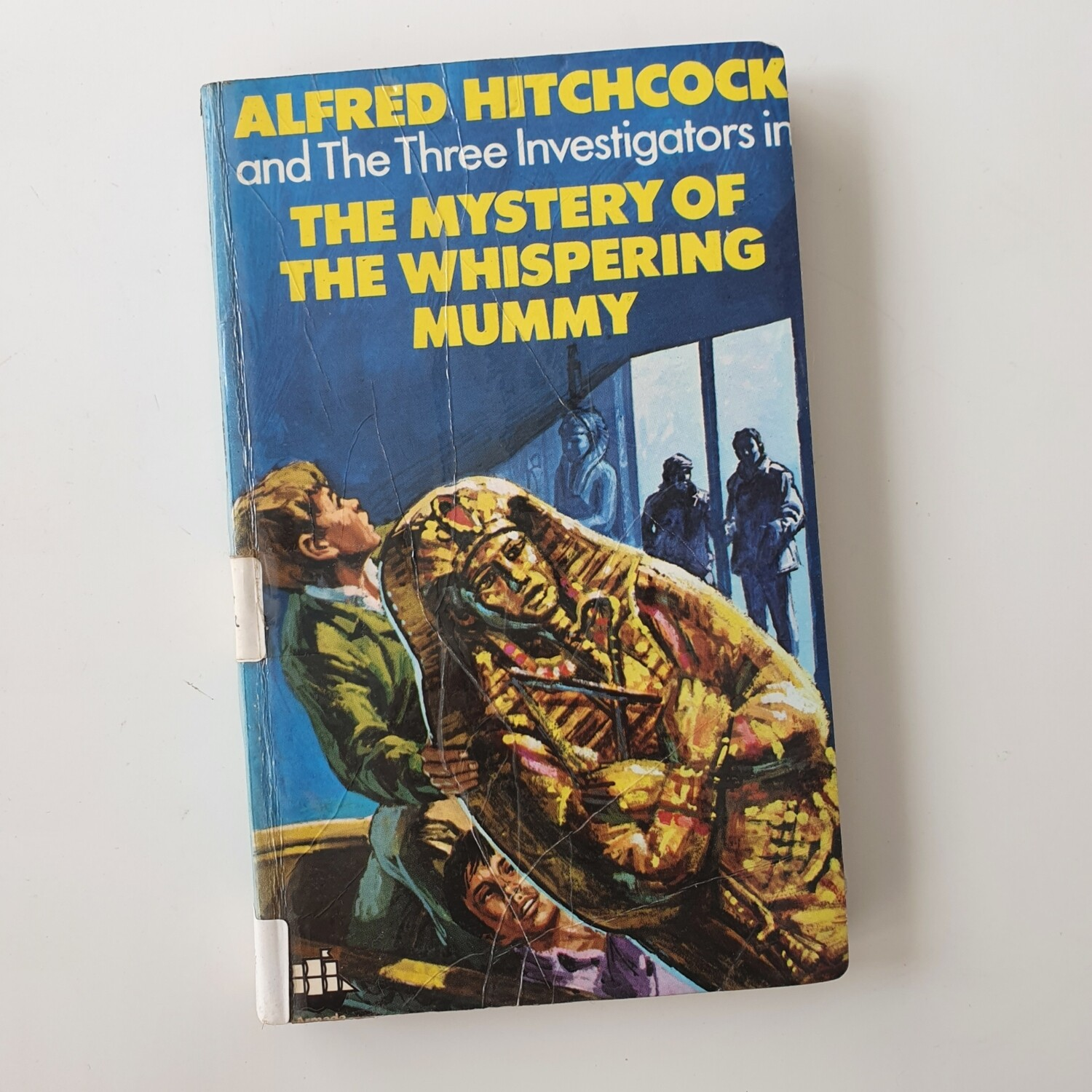 Alfred Hitchcock The Whispering Mummy Notebook - made from a paperback book