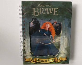 Brave Notebook - Lenticular Print - no original book pages