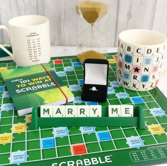 Personalised Scrabble signs made from original Scrabble pieces, choose your words