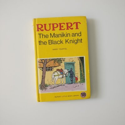 Rupert the Bear Notebook - the Manikin and the Black Knight