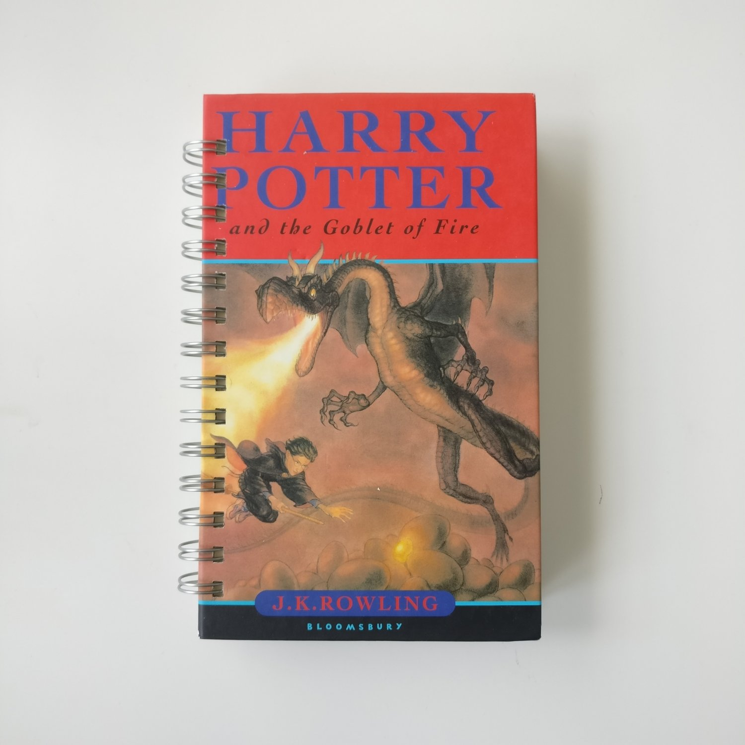 Harry Potter and the Goblet of Fire Notebook made from a dust jacket