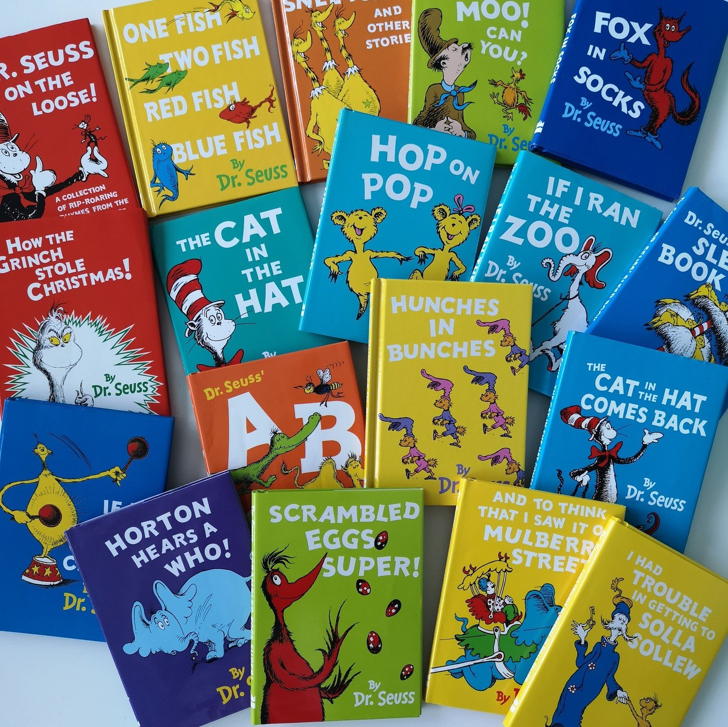 Small Dr Seuss collection - Cat in the Hat / Fox in Socks / etc...