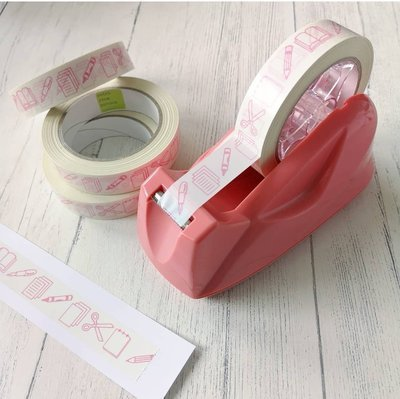 Sticky tape - pink stationery vinyl tape 66 metres!