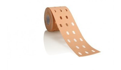 Кинезиотейп CureTape Punch, 5см×5м, телесный