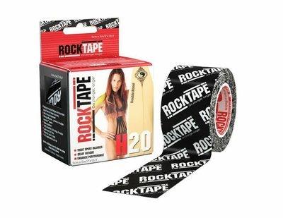 Кинезиотейп RockTape H2O (5см×5м) черный лого