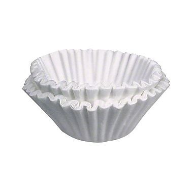 "Bunn Paper Coffee Filter For 10 Gallon Urn 23.75"" x 8.75"" - 250/case"