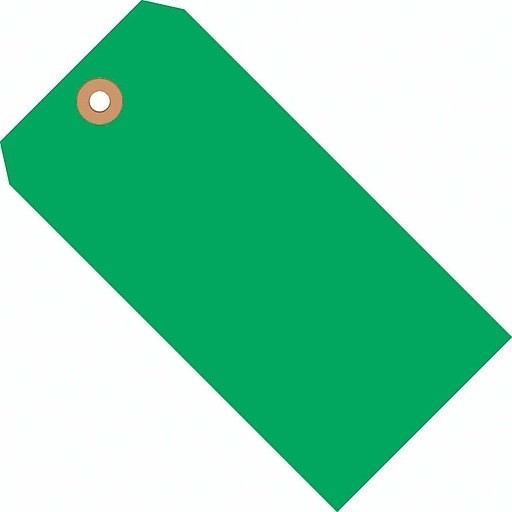 """Merangue Shipping Tags, Size 6, 5 1/4"""" x 2 5/8"""", Green, 1000/Pack"""
