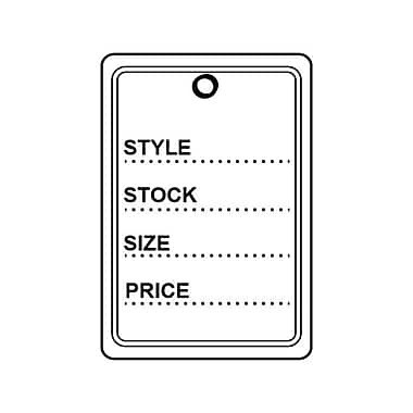 """Wamaco Retail Tag E 1-3/8"""" W x 2"""" H"""