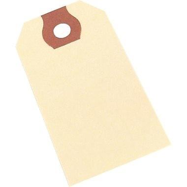 "Crownhill Plain Manilla Shipping Tags, #5 Size, 4-3/4"" x 2-3/8"" - 1,000/box"