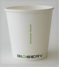 4oz Bioserv Single Wall White Hot Cup 1,000 per case