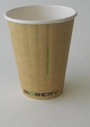 8oz Bioserv Ripple Double Wall Kraft Hot Cup 1,000 per case