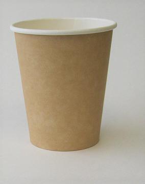 8oz Plain Single Wall Kraft Hot Cup 1,000 per case
