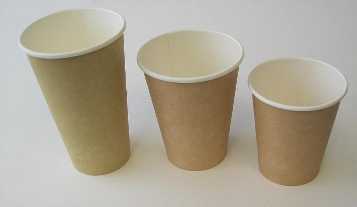 16oz Plain Single Wall Kraft Hot Cup 1,000 per case