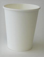 8oz Plain Single Wall White Hot Cup 1,000 per case