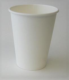 12oz Plain Single Wall White Hot Cup 1,000 per case