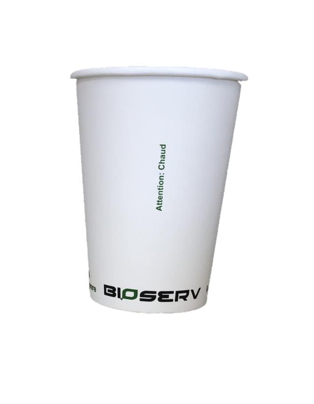 32oz White Bioserv Soup Cups - 500/case