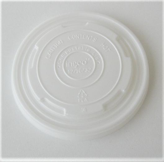 12-32oz Soup Cup Flat Lid - 500/case