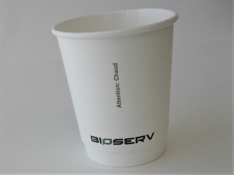 8oz Air Gap Double Wall Bioserv - 500/case