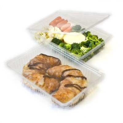 24 oz Hinged Lid PLA Container - 200/case