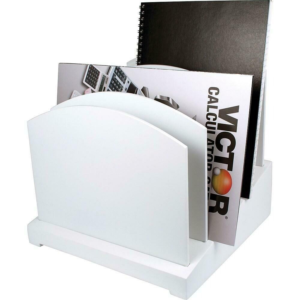 Victor Wood Incline File Desk Organizer, Pure White